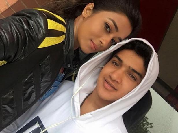 Tina Dutta with Faisal Khan