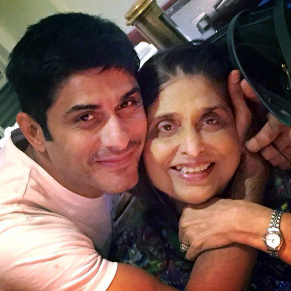 Vikas Bhalla & his mother
