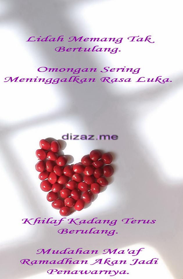 Ucapan Ma'af Ramadhan-Dizaz