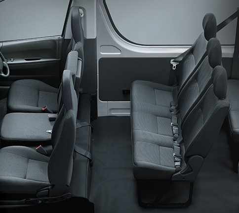 Kapasitas penumpang Mobil Toyota Hiace