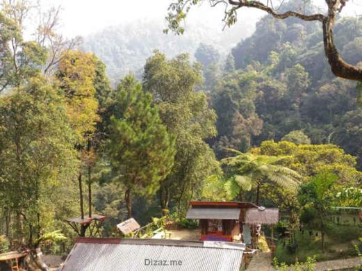 Pemandangan area curug Cibulao