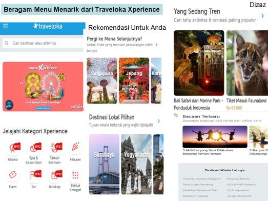 Menu Menarik Traveloka Xperience