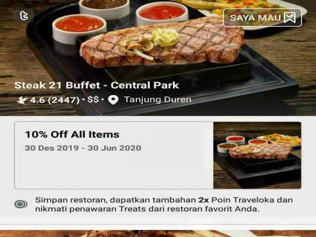 Hidden Gems Steak 21 Treats by Traveloka Eats