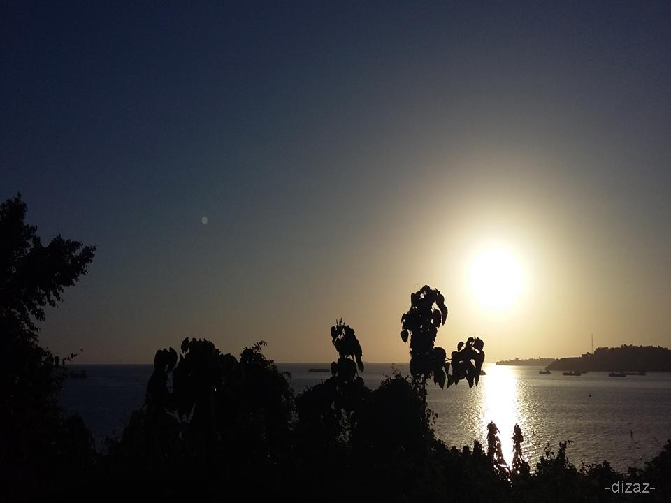 sunset syahdu dan romantis